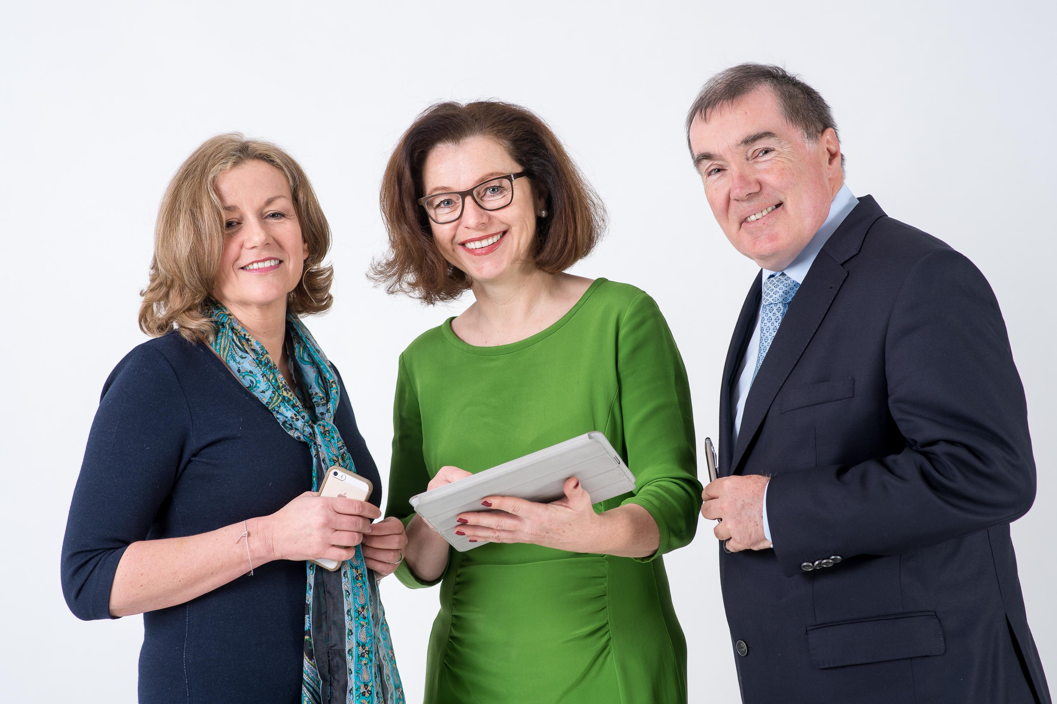 Die Kommunikationsberater: Sametinger, Wiesner, Bruckner (Foto: Peter Christian Mayr)
